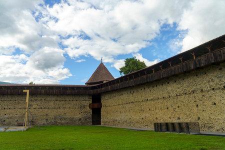 Glorenza, or Glurns, Bolzano, Trentino Alto Adige, Italy: historic city in the Venosta valley. Walls