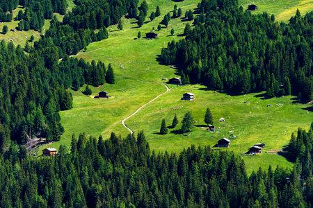 Passo Gavia, Sondrio province, Lombardy, Italy: landscape along the mountain pass at summer