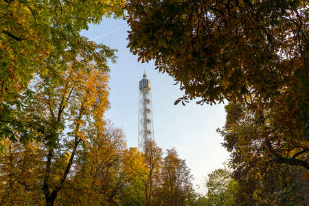 Milan, Lombardy, Italy: historic park known as Parco Sempione at November and the Branca tower Archivio Fotografico