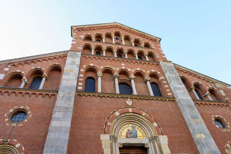 Milan, Lombardy, Italy: the facade of the historic Sant Agostino church, along via Copernico Archivio Fotografico