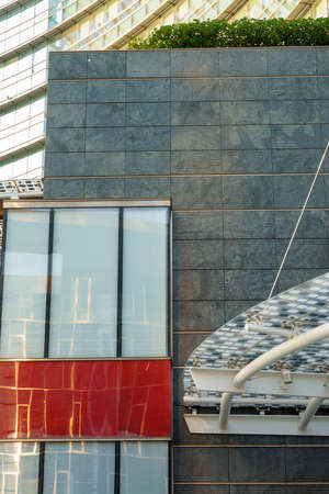 Milan, Lombardy, Italy: exterior of modern buildings at Gae Aulenti square