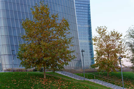 Milan, Italy: modern Citylife park with Hadid and Libeskind towers Archivio Fotografico