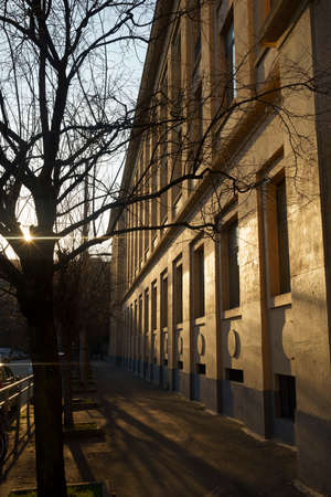 Milan, Lombardy, Italy: a winter afternoon along via Faravelli Archivio Fotografico
