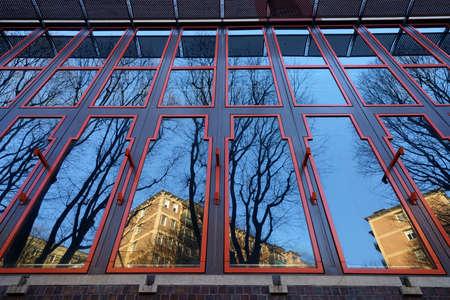 Milan, Lombardy, Italy: exterior of modern building along via Gattamelata