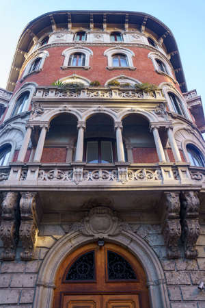 Milan, Lombardy Italy: exterior of a historic house along via Mascheroni