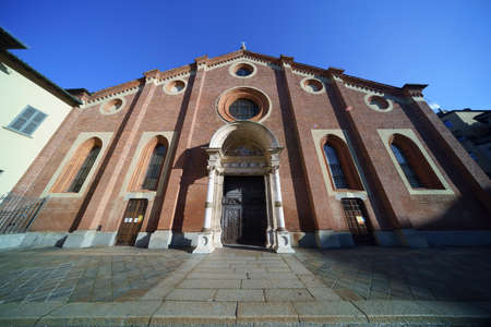 Milan, Lombardy Italy: exterior of the historic Santa Maria delle Grazie church