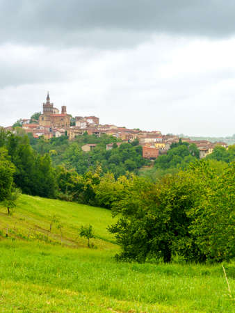 Rural landscape in Monferrato, near Camagna, Alessandria province, Piedmont, Italy