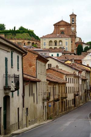 Calliano, Asti province, Monferrato, Piedmont, Italy: view of the historic town