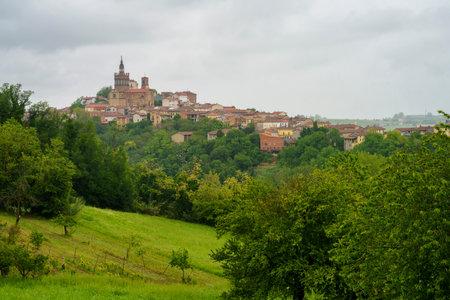 Rural landscape in Monferrato, Site, near Camagna, Alessandria province, Piedmont, Italy Archivio Fotografico
