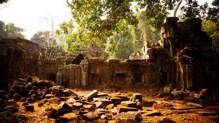 Ta Promh ruins, Siem Reap, Cambodia 版權商用圖片