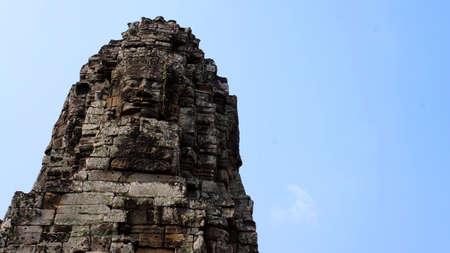 The Bayon ruins, Siem Reap, Cambodia Stok Fotoğraf