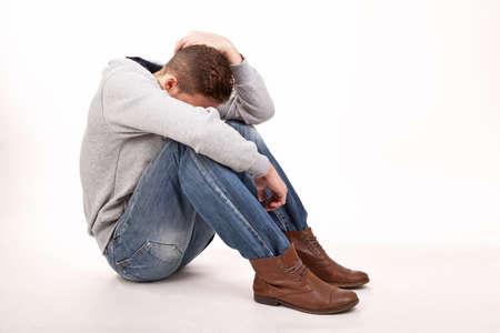 depressive young man