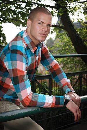 good looking man: good looking man outdoor