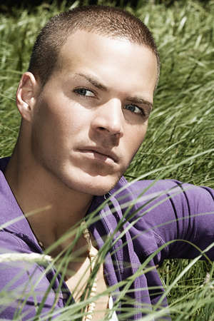 good looking man outdoor