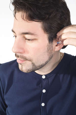 ear with acoustic instrument Stock Photo - 19564344
