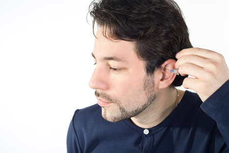 ear with acoustic instrument photo