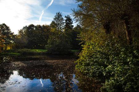 Autumn Landscape Reflection on the Lake