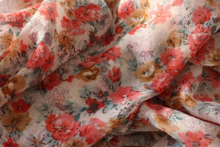 Patterned printed fabric, weft and warp