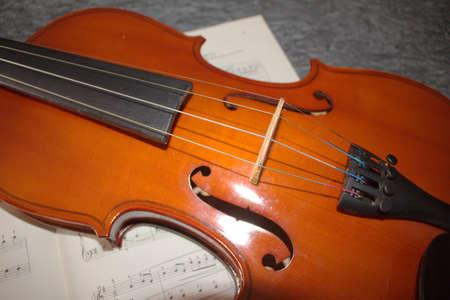 Violin, close up of a musical instrument, details Standard-Bild