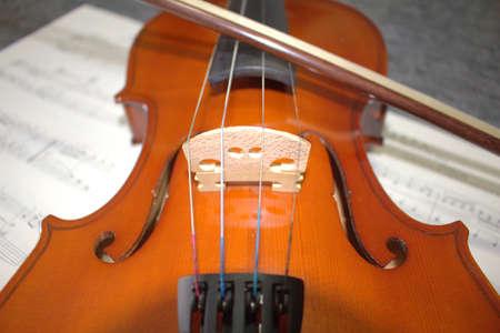Violin, close up of a musical instrument, details