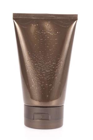 白い背景に分離された化粧品の容器
