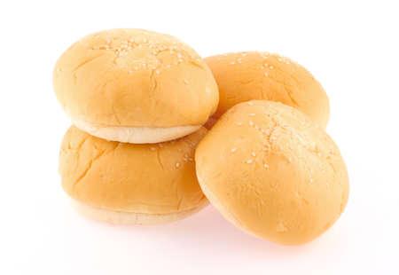 Hamburger bun isolated on white background