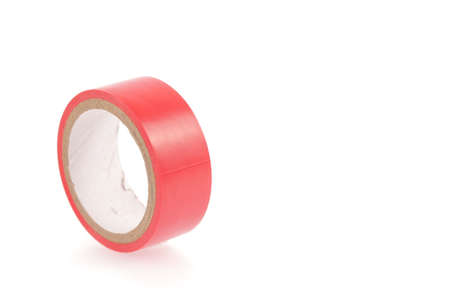 Electrical tape isolated on white background photo