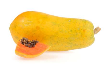 cranny: papaya isolated on white background