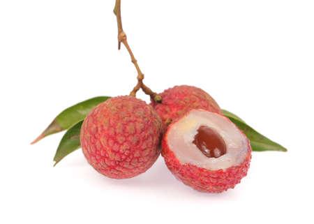 lichi: lychees isolated on white background