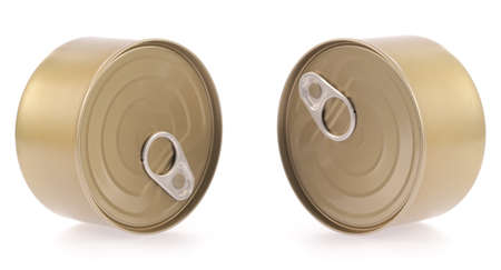 canned food: Canned food isolated on white background Stock Photo