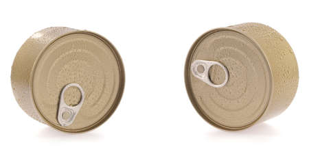 canned food: Canned food isolated on white