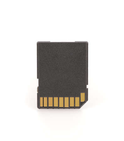 Black SD memory card isolated on white background Banque d'images