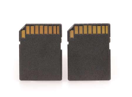 Black SD memory card isolated on white background Standard-Bild
