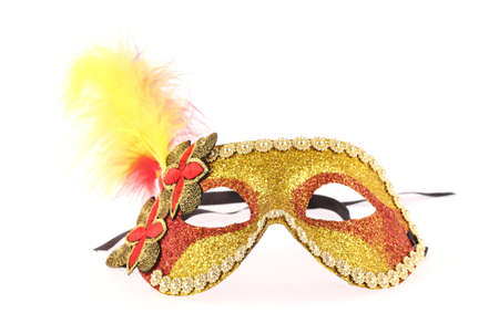 guise: carnival mask isolated on white background