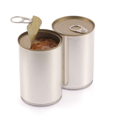canned food: Aluminum,canned food isolated on white background