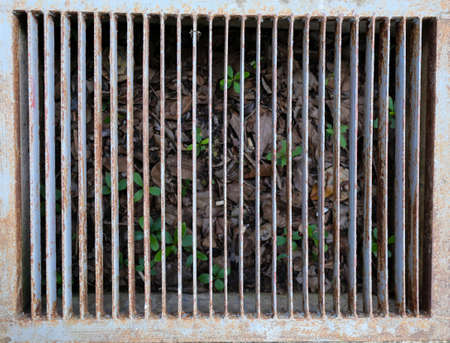 Steel grating drain cover photo