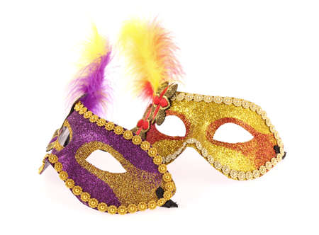 guise: carnival masks isolated on white background