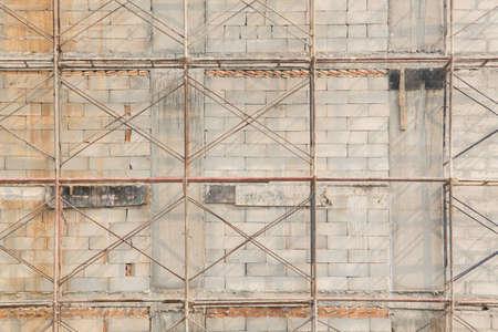 scaffold on wall