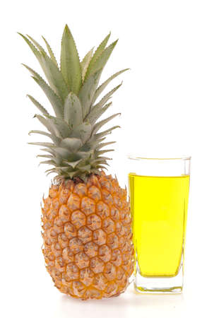 pineapple juice: pineapple juice isolated on white background
