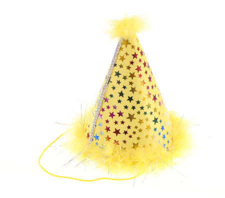 merrymaking: Party hat isolated on white background Stock Photo