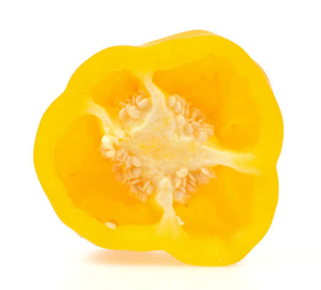 Slice bell pepper isolated on white background photo