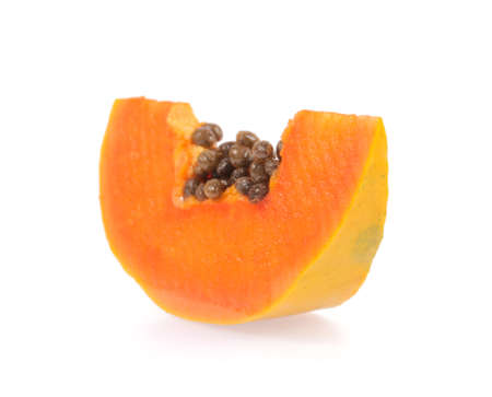 grope: papaya isolated on white background