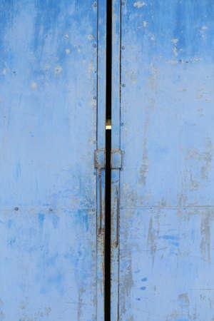 detail on an antique metal door photo