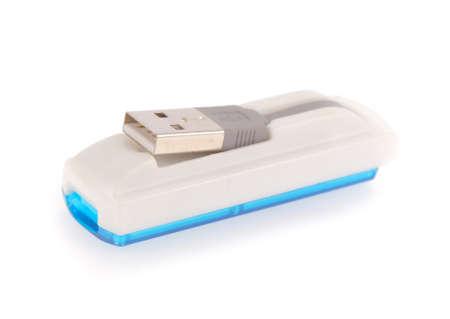 gigabytes: card reader isolated on white background
