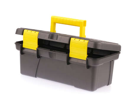 toolbox: Black toolbox isolated on white background