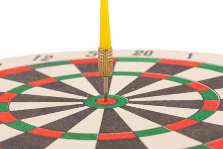 dart on target: Dart target with arrows isolated on white background