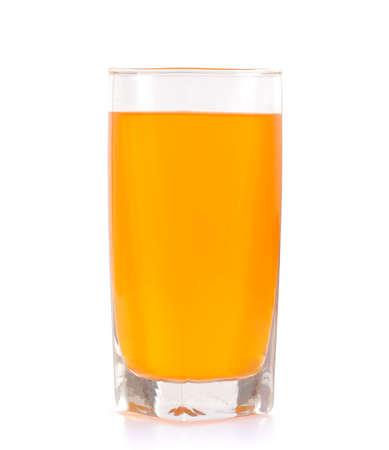 orange juice glass: Orange juice glass. Isolated on white background