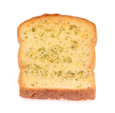 morsel: garlic bread isolated on white background