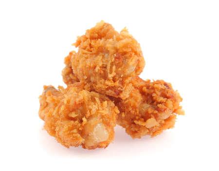 binge: fried chicken drumsticks isolated on white background