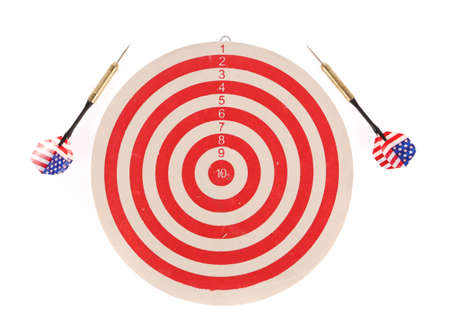 dart on target: Dart target isolated on white background